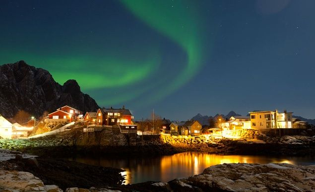 Aurora Borealis, Norway: When energetic particles from the magnetosphere hit the earth's atmosphere, the skies in the planet's northernmost regions turn into an artist's palette of green and blue swathes and swirls in the spectacle known as the Northern Lights.