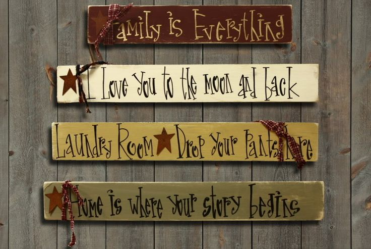 free primitive images to paint on wood   Your Saying Custom Primitive Rustic Wood Sign Gift OOAK   eBay