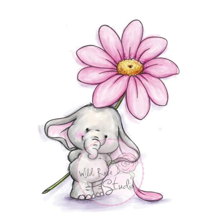 Elefantinho com Margarida