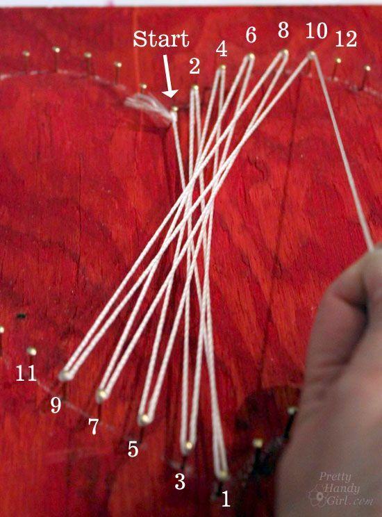Legende Alles was Sie brauchen ist … Valentine String Art & Gravur