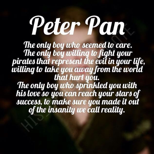 This is why I love Peter Pan