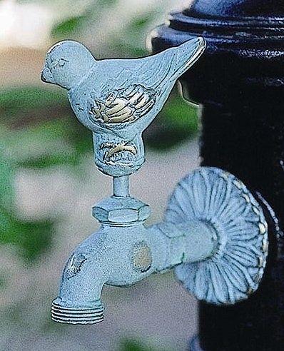 蛇口 立水栓/水栓柱に取付けアニマル蛇口(青銅色)スズメ ガーデン蛇口 水回り フォーセット