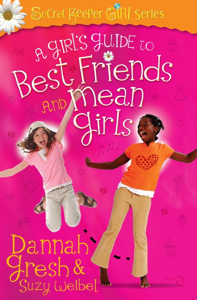 A Girl's Guide to Best Friends and Mean Girls  Friends can make or break the life of a tween girl. That's why bestselling author Dannah Gresh, popular speaker and creator of the Secret Keeper Girl events, and youth educator Suzy Weibel have developed this resource that targets the hearts of tween girls as they grow in and pursue friendships.  A Girl's Guide to Best Friends and Mean Girls springs from the life and example of Jesus, a tween girl's true BFF.