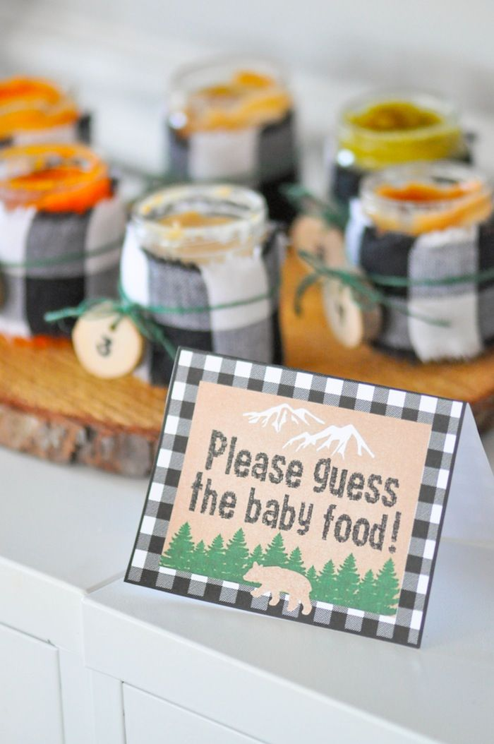 Guess the baby food baby shower game! Kara's Party Ideas Little Lumberjack Baby Shower | Kara's Party Ideas