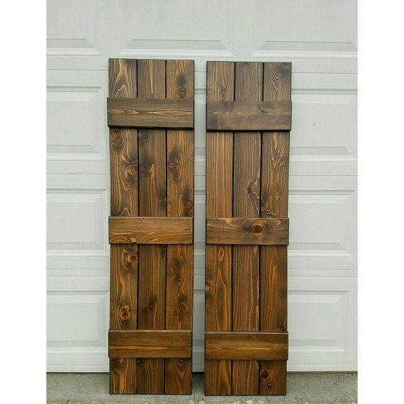 Best 25 Exterior Wood Shutters Ideas On Pinterest Diy