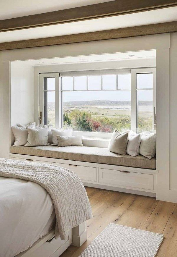 Bedroom Window Seat Ideas Elegant Bay Window Seat Ideas How To Create A Cozy Space In Any Room In 2020 Home Decor Bedroom Bedroom Seating Beach House Interior