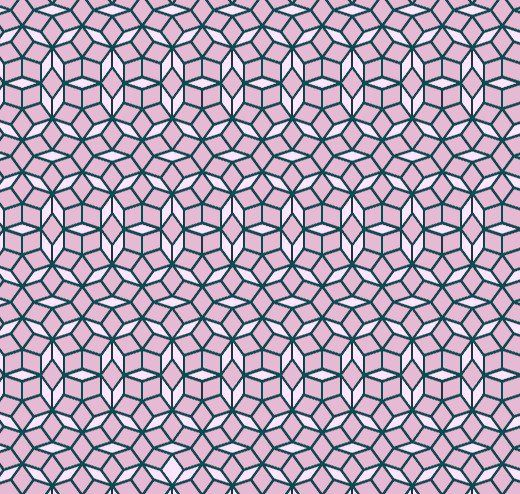 A periodic rhombus tiling that is not a Penrose tiling.