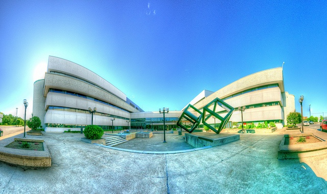Panorama Place Gilles Boulet UQTR (HDR) by Mario Groleau, via Flickr
