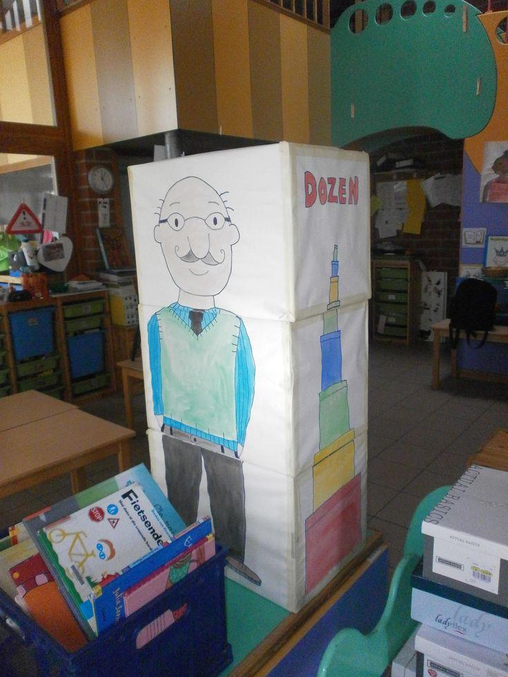 Tweede deel van de blokpuzzel. Een schilderij van opa. Aan de andere kant kan je een oma vinden. (oma Jules, opa Jules) Op de zijkanten zijn er puzzels met doosjes.