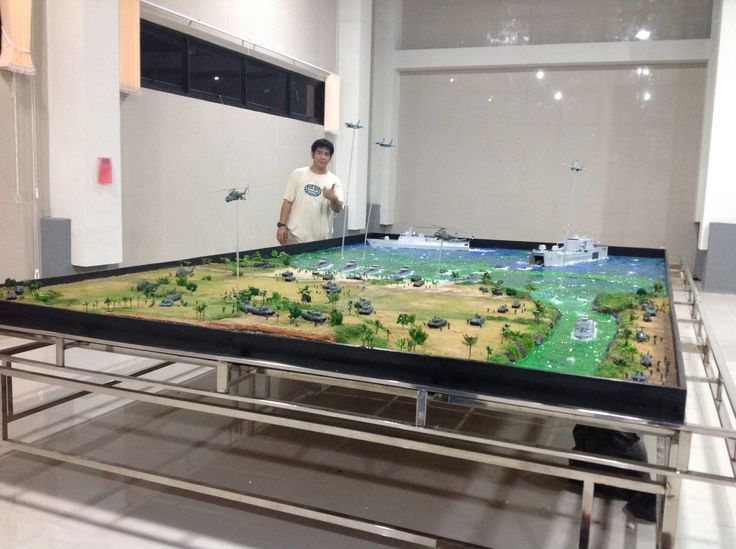 Diorama Latihan Gabungan TNI skala 1/72, lokasi di Puslitbang Kementrian Pertahanan dan Keamanan RI, Pd.Labu Jakarta Selatan, created by ademodelart and team