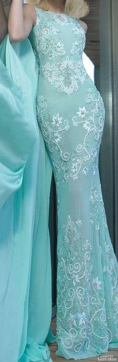 Turquoise   Aqua   embroidered dress