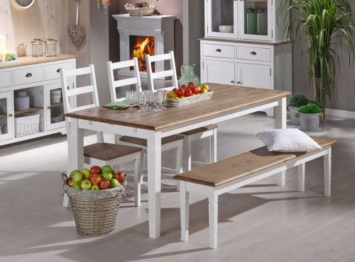 TRURO Table + 3 TRURO Chairs + TRURO Bench | Dining Set