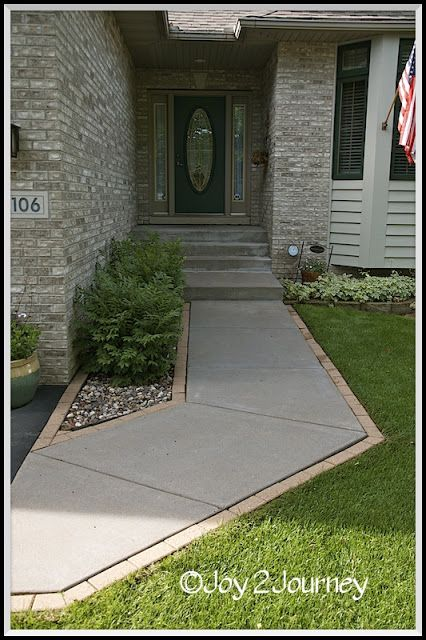 Concrete Front Walk : Staining a cement walkway … joy journey