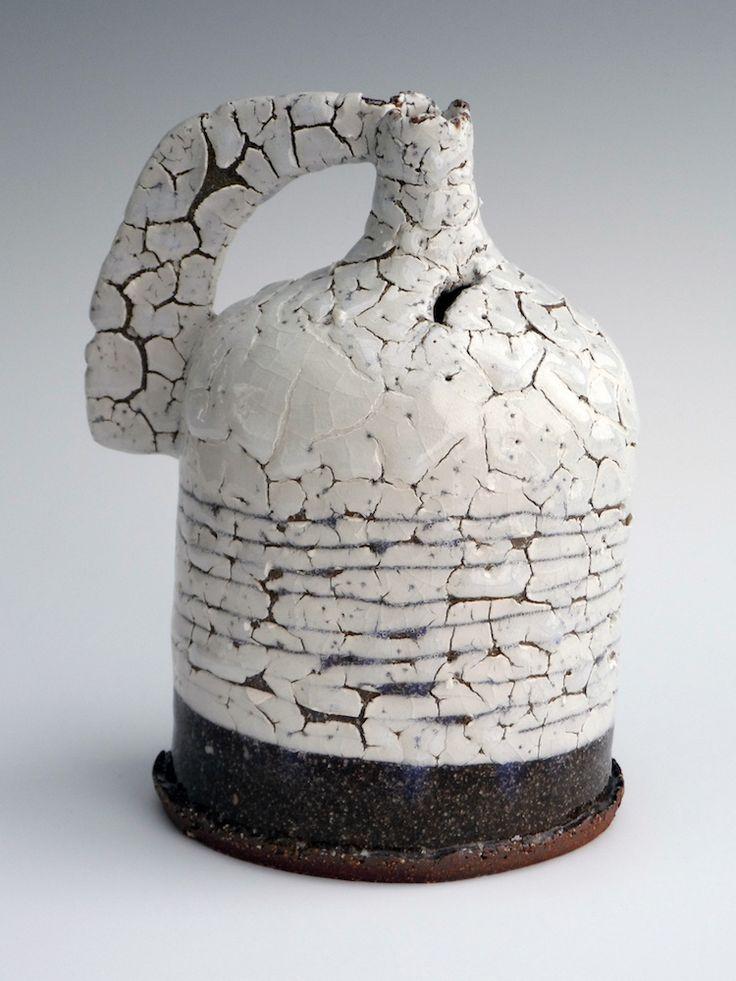 Jane Wheeler Frozen Snow Scored Flask 18x14cm