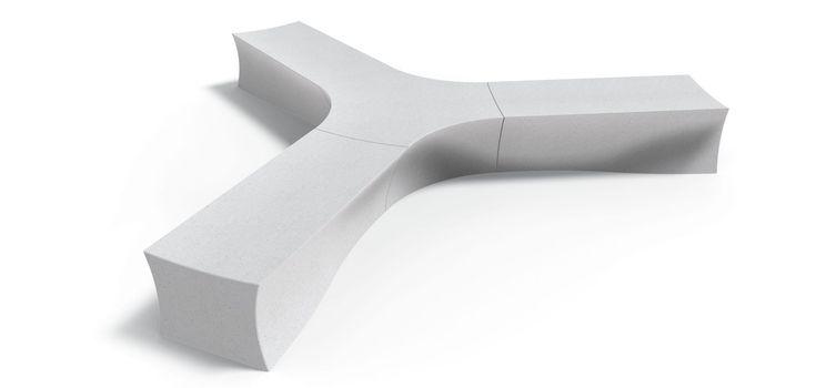 Meteor Collection modular monolithic benches - Metalco design Samuli Naamanka