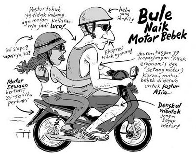Bule Naik Motor Bebek (Benny and Mice)