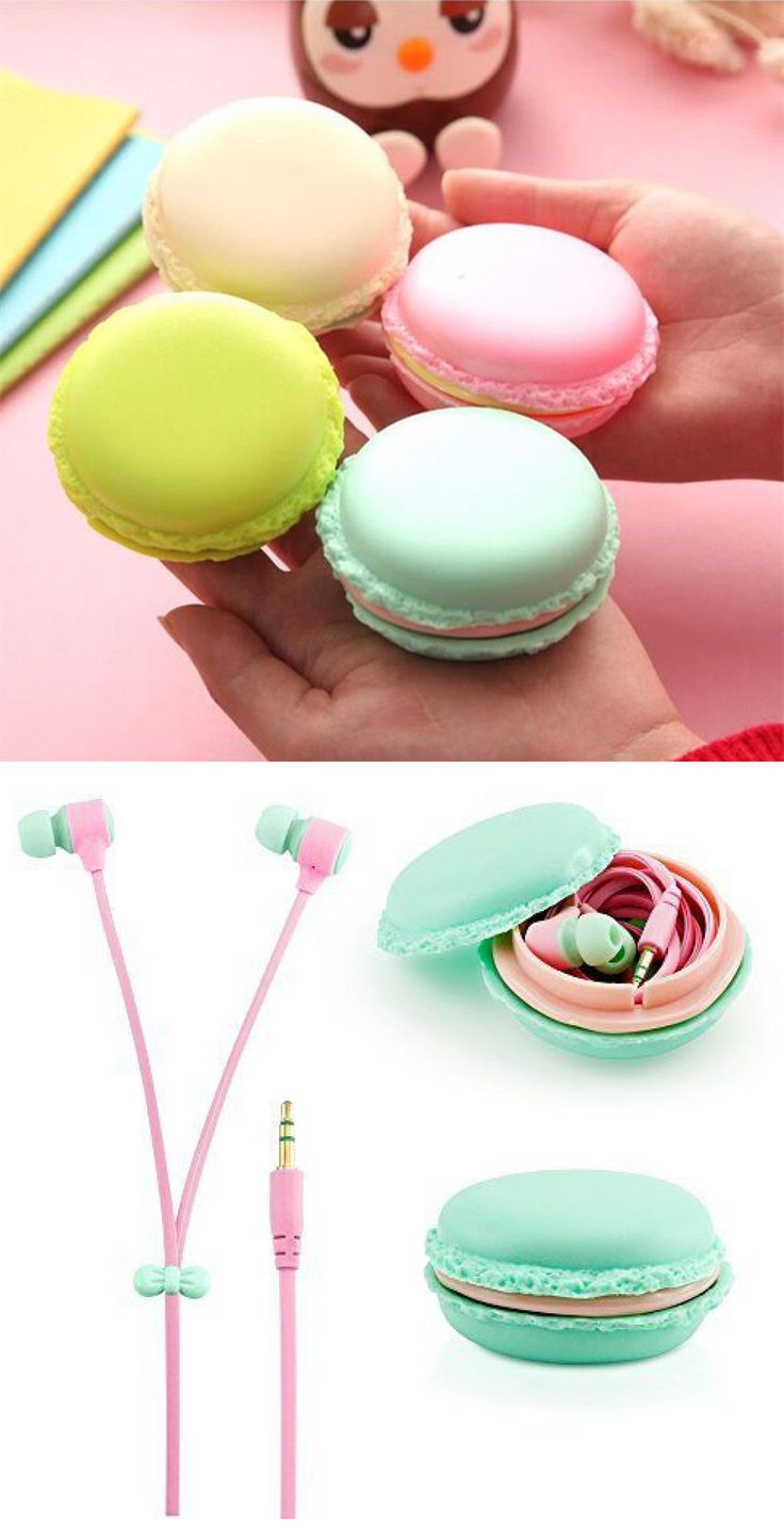 Macaroon ear buds! Gift idea under five dollars!!!!!