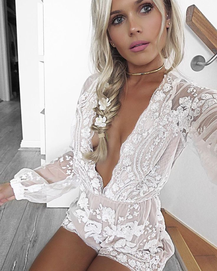 White Lace Playsuit                                                                             Source