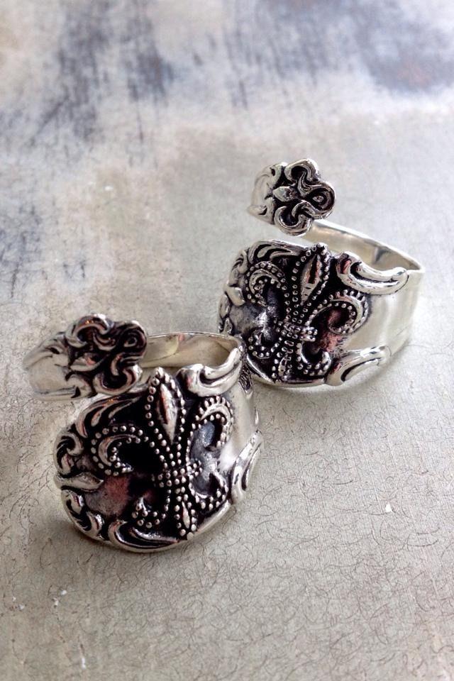 Fleurty Girl - Everything New Orleans - Fleur de Lis Spoon Ring - Jewelry - Footwear & Accessories