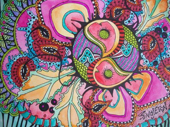 The Psychedelic Storm, Singleton Hippie Art, Original