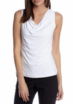 Calvin Klein Women's Cowl Neck Camisole - White - Xs