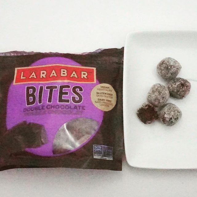These are like little bite size brownies! The perfect quick protein snack on the go. Larabar bites. I got double chocolate which is delicious but they come in 4 flavours. Follow my account as I post all the gluten free snacks that I find  @larabar