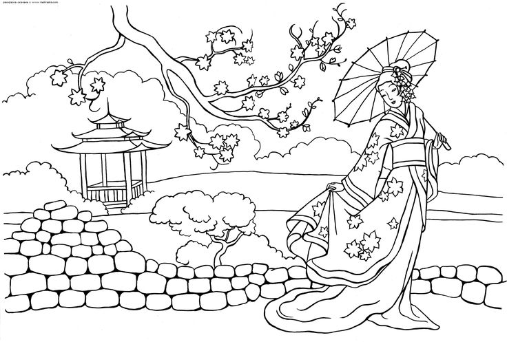 The Peoples Of World Free Coloring Pages Online Print