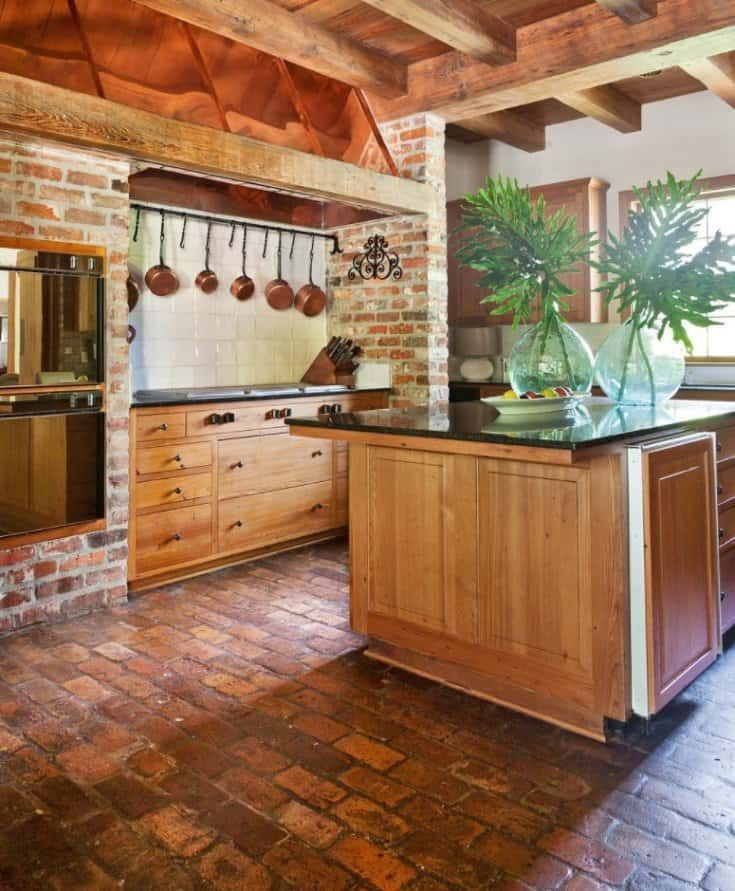 20 kitchen flooring ideas pros cons and cost of each option kitchen flooring brick floor on kitchen flooring ideas id=32939