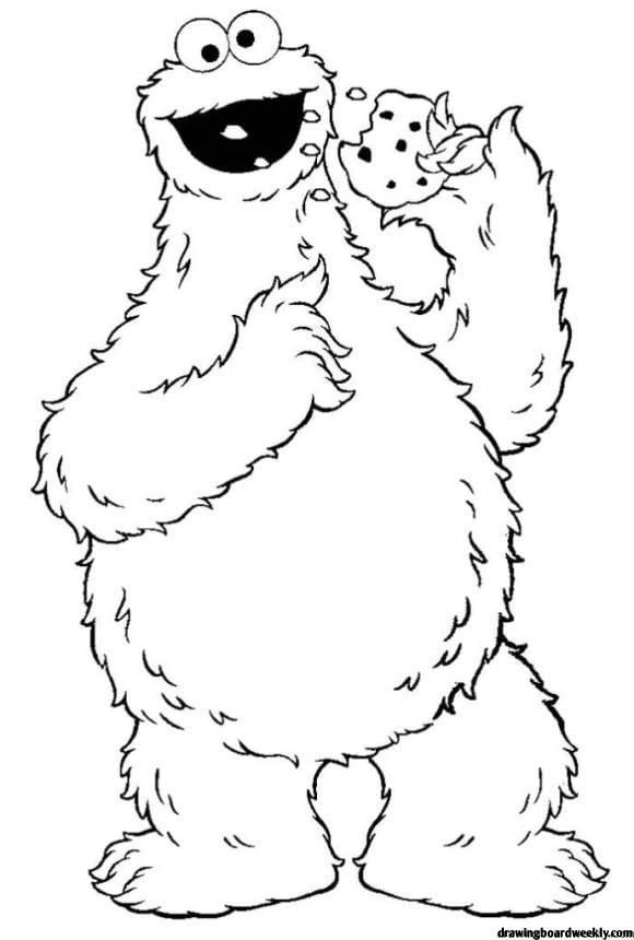 Cookie Monster Coloring Page Monster Coloring Pages Sesame Street Coloring Pages Monster Cookies