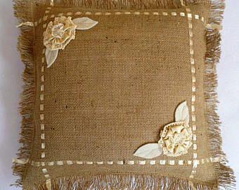 Burlap Pillow Shams,Custom Sizes, Decorative Pillows ,Burlap Pillow Covers, Throw Pillows, Farmhouse, Frayed Edge Pillows,Outdoor Pillows
