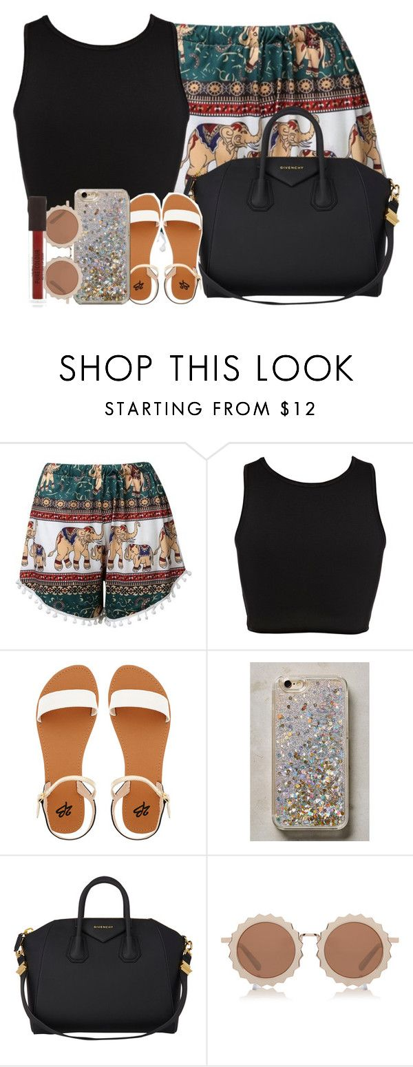 """""""Monday"""" by ashcake-wilson ❤ liked on Polyvore featuring River Island, 2b bebe, Anthropologie, Givenchy, House of Holland and New Look"""