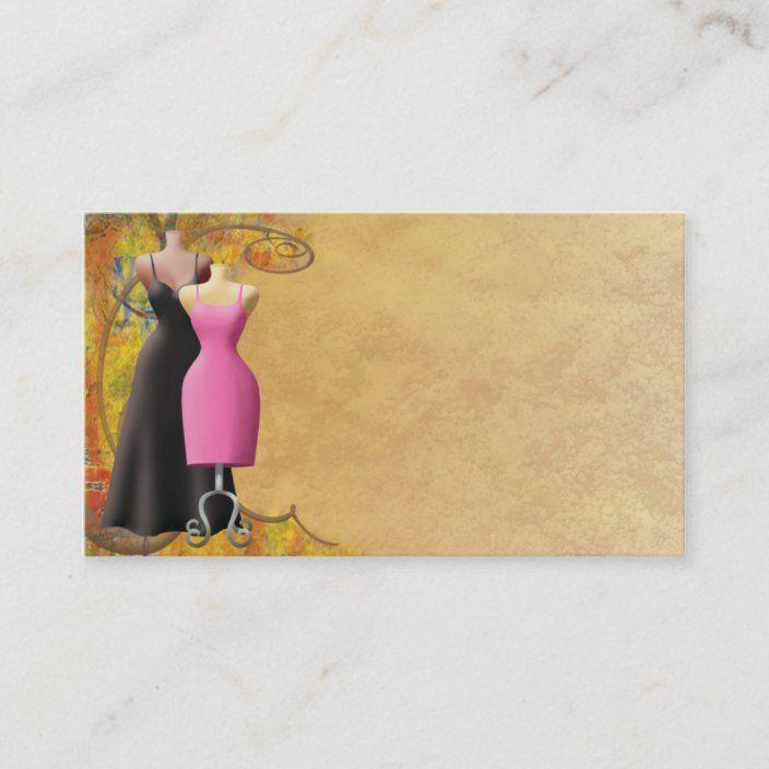 Ladies Fashion Clothing Business Card Zazzle Com Fashion Business Cards Fashion Clothes Women Card Design