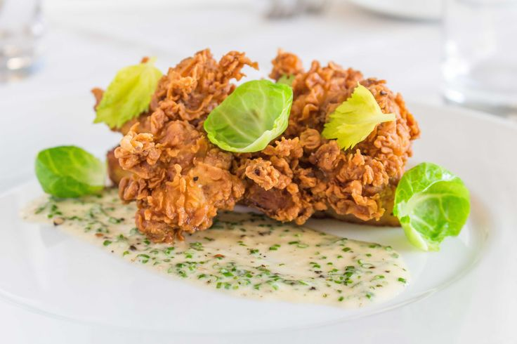 #nationalfriedchickenday Join us at story on Wednesday nights for fried chicken! 4 pieces of campo lindo fried chicken served with savory bread pudding, parmesan gravy & brussels sprouts for $19