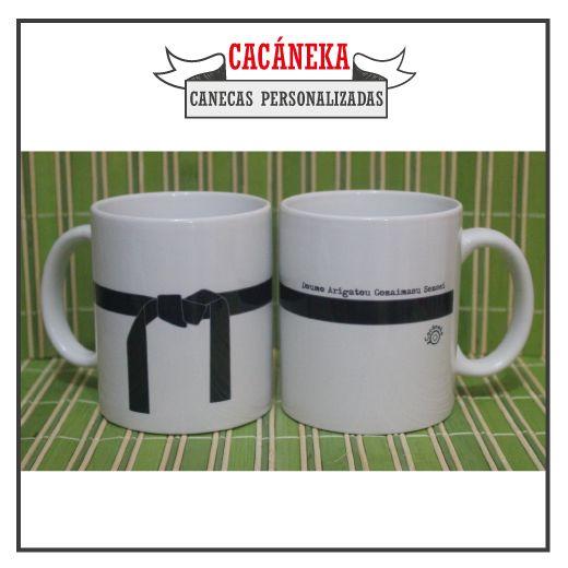 Caneca personalizada Cacáneka cacaneka mestre karatê judô artes marciais professor