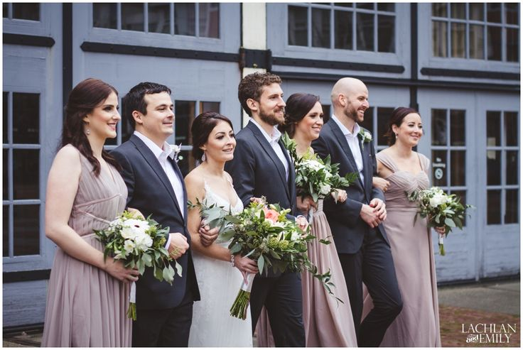 Wedding party at the Yaletown Roundhouse
