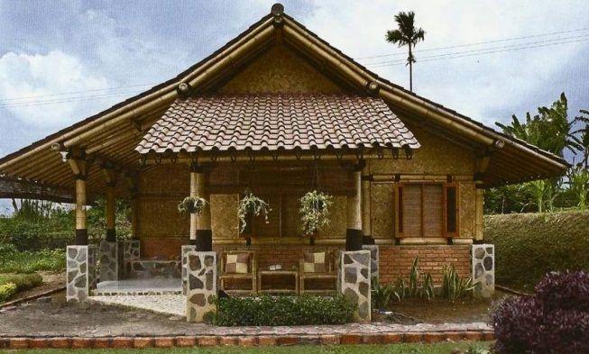 Hasil Gambar Untuk Model Rumah Bambu Modern Desain Rumah Rumah