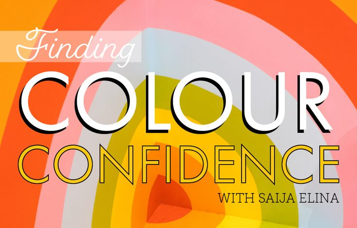 Using Colour With Confidence: Finding Colour Confidence With Saija Elina