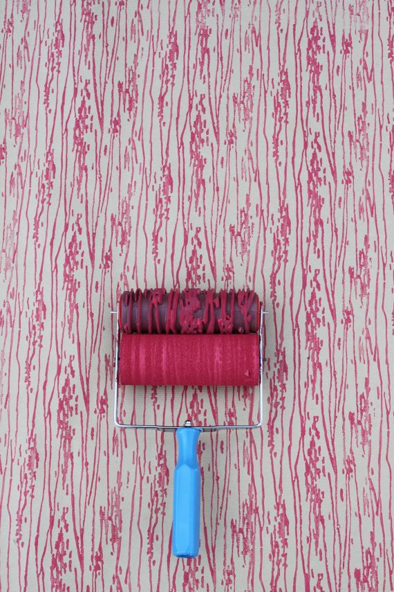 Patterned Paint Roller In Woodgrain With Applicator By Not