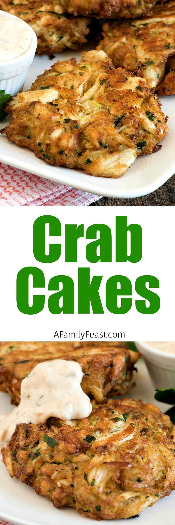 Crab Cakes - Crispy, delicious crab cakes plus a video with step-by-step instructions showing you how to make this easy, delicious meal.