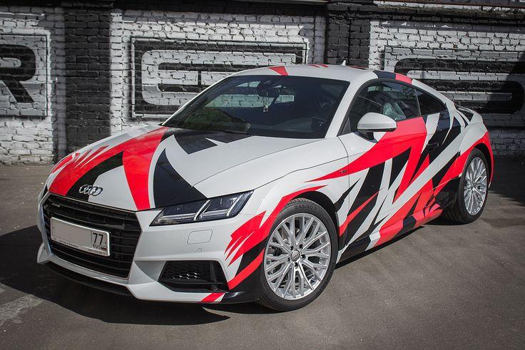 Audi Tt Asymmetrical Lines Wrap Car Wrap Design