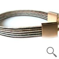 The original collection by designer Nanna Salmi  Horsehair bracelet Falcao, Ribbon 9mm