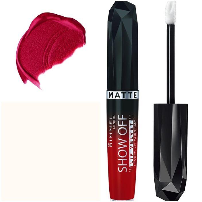 Η αποκάλυψη στα χείλη σας έρχεται τώρα με τα υγρά κραγιόν από τη Rimmel London, Show Off Matte Lip Laquer! Με mousse σύσταση που στεγνώνει γρήγορα, αφήνει ένα μοναδικό ματ, βελούδινο τελείωμα στα χείλη σας! Με υψηλή περιεκτικότητα σε pigments, χαρίζει απίστευτα έντονο χρώμα, που διαρκεί για πε