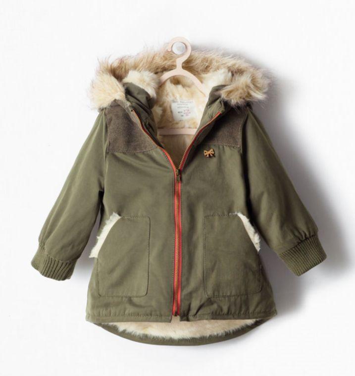 Girls Green Parka Coat Han Coats