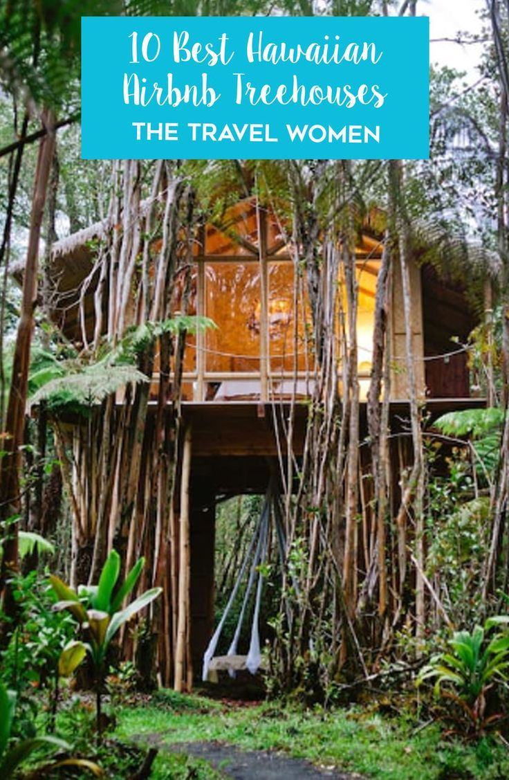 The Best Airbnb Treehouses in Hawaii. Airbnb has some of the most spectacular and eclectic treehouses for your next Hawaiian escape! Click through to see the best Hawaiian Treehouses on Airbnb. | The Travel Women #treehouses #airbnb #travelplanning #accommodation #hawaiitravel