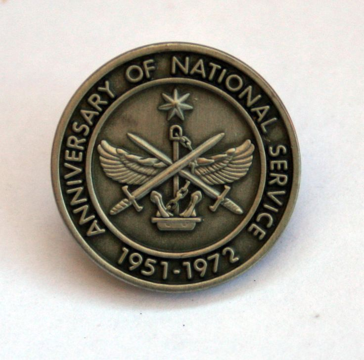 Defence Gifts - National Service Anniversary Lapel Pin Limited Edition, $8.00 (http://www.defencegifts.com.au/national-service-anniversary-lapel-pin-limited-edition/)