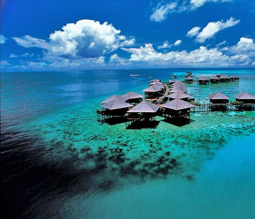 In Sabah, Malaysia - This is where you stay to access some of the worlds best diving at Sipidan Island. www.missdinkles.com