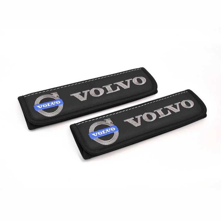 Volvo leather car seat belt cover 2 pcs Seatbelt shoulder covers adult strap Design pad Volvo accessories for interior Emblem embroidery by Chekasin on Etsy