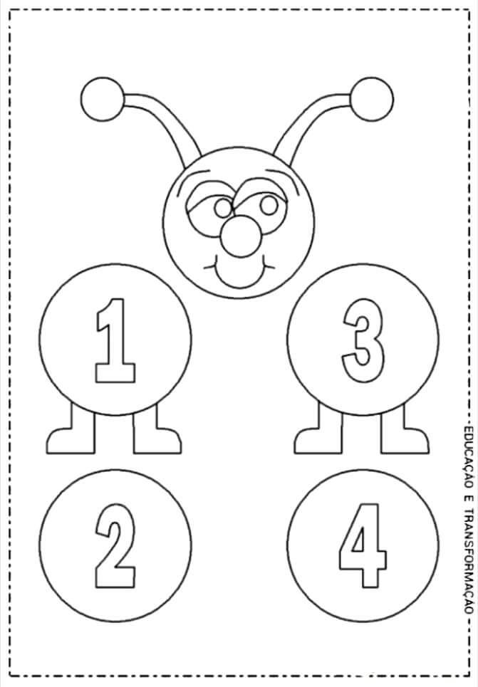 Tirtil Sayilar Boyama Kindergarten Anchor Charts Number