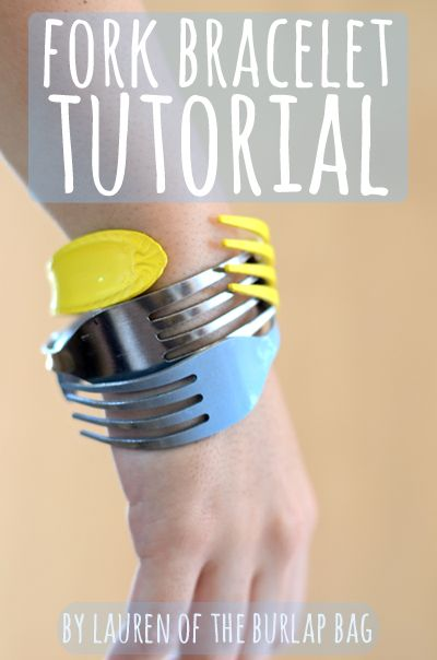 Fork bracelet tutorial. Fun, quirky, cheap jewelry idea (I can see my daughter digging this!). I used to wear spoon rings!! lol