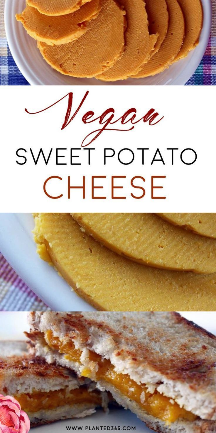 Delicious Easy To Make Sweet Potato Cheese Vegan Plant Based Cheese Recipe From Planted365 Com Uses Co Vegan Cheese Recipes Vegan Snacks Healthy Vegan Snacks